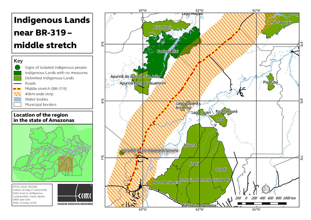 Indigenous Lands near BR-319 – middle stretch